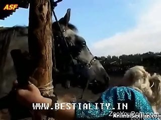 Mature with huge tits, merciless sex scenes with the horse