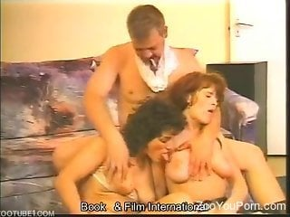 Horniest zoophiles ever in a twisted threesome scene