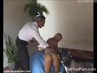 Nude animal sex scenes with the young blonde enduring a lot of sex